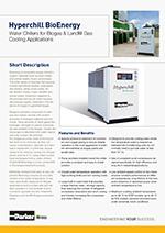 Chladiče vody pre aplikácie na spracovanie bio a skládkových plynov